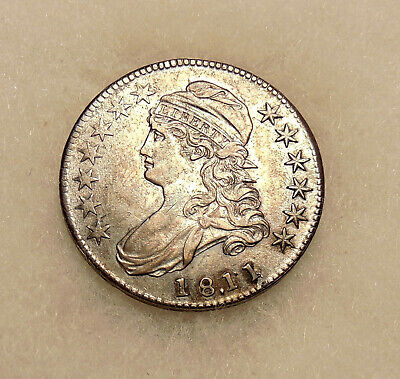 """1811/0 """"punctuated date"""" Capped Bust Half - O.101 - Sharp Looking Coin"""