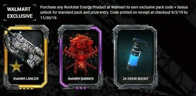 Gears of War 5 Rockstar Walmart Exclusive Code for DLC Banner, Boost, and Lancer