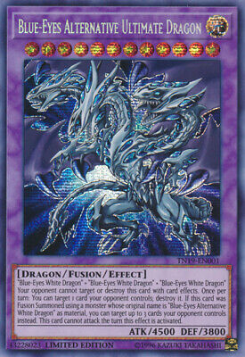 1x - Blue-Eyes Alternative Ultimate Dragon - TN19-EN001 - Prismatic Secret Rare