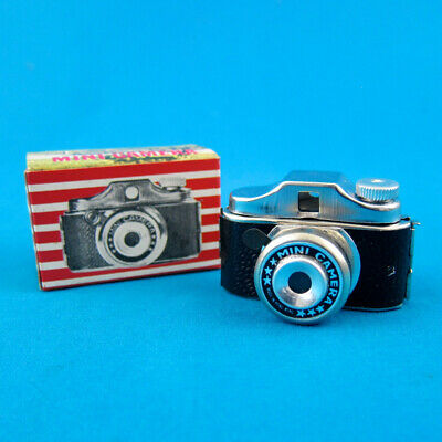 1 VTG Hit Type Subminiature Spy Camera NOS IN BOX Hong Kong 1950s 60s 17.5mm toy