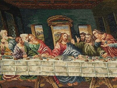 Completed Last Supper Needlepoint Canvas