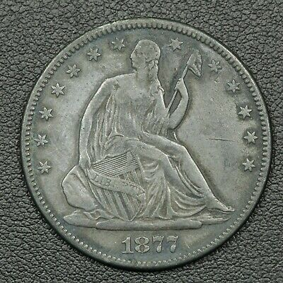 1877 'In Memory of July 25th 1882' Token Seated Liberty Silver Half Dollar