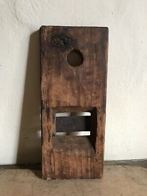 BEST Small 19th C Early Antique Wooden Handmade Slicer Grater Patina Treen AAFA