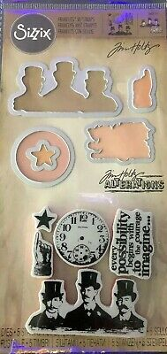 Tim Holtz Alterations Sizzix Possibilities Mixed Media New Red Rubber Framelits