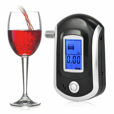 Professional Police Breath-Alcohol Tester LCD Digital Breathalyser Analyzer Gift