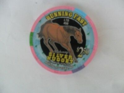 $2.50 Mahoneys Silver Nugget 2002 Run For The Roses Horse Racing Chip