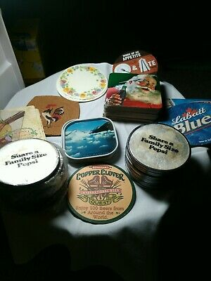 Vintage Coca Cola And Pepsi Drink Coasters mix lot