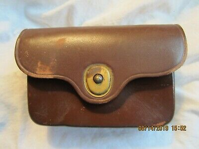 General Officer's Brown Leather First Aid Pouch, Marked Us, Jqmd, 1946, Ens,Ww2