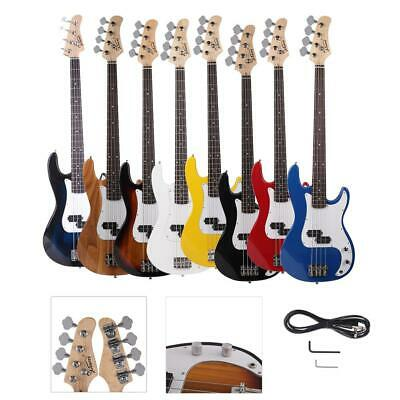 New 8 Colors Burning Fire 4 Strings Electric  Bass Guitar + Cord + Wrench