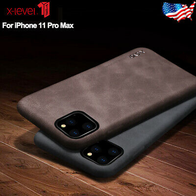 For Apple iPhone 11 Pro Max X-LEVEL Luxury Retro Slim Leather Back Case Cover