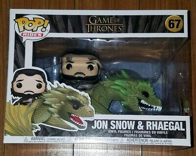 Funko Pop Rides #67 Jon Snow and Rhaegal Game of Thrones GoT In Hand