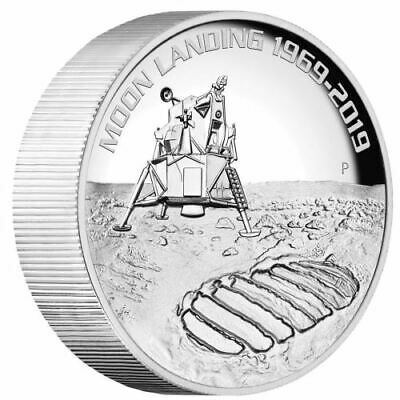 Perth Mint 50th Anniversary of the Moon Landing 2019 5oz Silver High Relief Coin