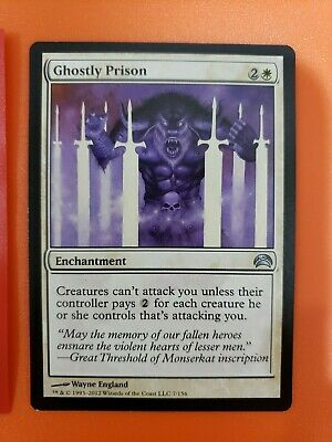 Magic the Gathering Card - Ghostly Prison from Planechase 2012 - 2 of 4
