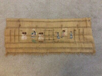 "Antique Peruvian manta cloth antique textiles/ chinese influence 50"" x20"""