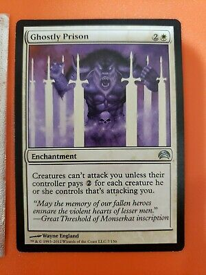 Magic the Gathering Card - Ghostly Prison from Planechase 2012 - 3 of 4