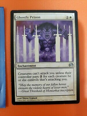 Magic the Gathering Card - Ghostly Prison from Planechase 2012 - 4 of 4
