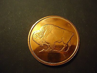 Bison 1 Oz Copper Coin  ** .999 Fine Copper ** -- Combined Shipping