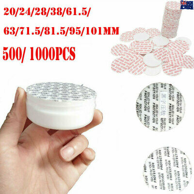 500/1000PCS 20-95mm Press Seal Caps Liners Foam Safety Tamper Jar Bottle Gaske H
