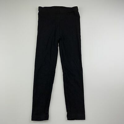 Girls size 4, H&T, black soft stretchy leggings, GUC