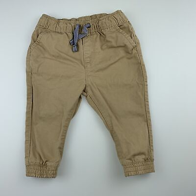 Boys size 0, Target, cotton casual pants, elasticated, GUC
