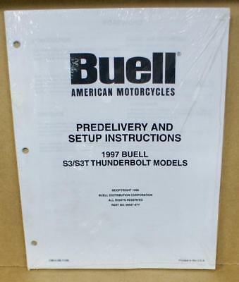 Buell Original Predelivery And Setup Indurctiones S3/S3T Coup de Tonnerre 97