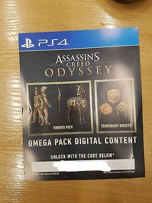 Assassin's Creed Odyssey omega pack digital content DLC PS4 code only