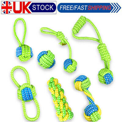 Dog Puppy Toy Rope Teething Chew Playtime Teeth Cleaning Cotton Rope Toys Lots