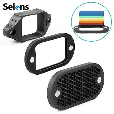 Selens Flash Speedlight Honeycomb Grid with Magnetic Gel Band 7Pcs filters Kit