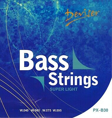 Set Of Bass Guitar Strings - Super Light (40-95) *** FREE POSTAGE ***