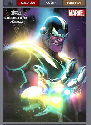 Topps Marvel Collect Card Trader Collectors Reserve Thanos Motion Digital
