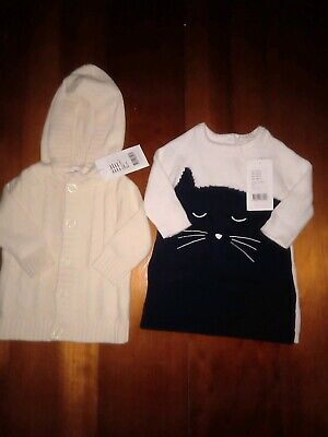 NEW WITH TAGS Seed Baby Cardigan and Long Jumper Size 000