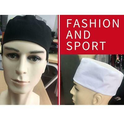 Womens Men Breathable Mesh Top Skull Cap Flat Chef Hat for Cooking Baker Kitchen