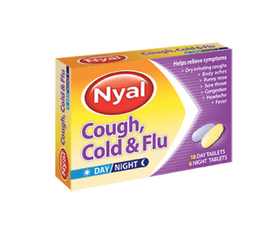 Nyal Cough Cold & Flu Day/Night Tablets 18 Day 6 Night Tablets
