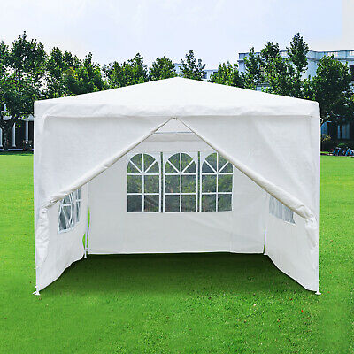 Gazebo Waterproof Wedding Party Tent Marquee Canopy Windbars Garden White 3Mx3M