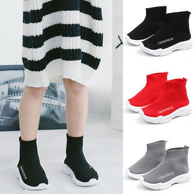 Girls Boys Kids Sock Shoes Trainers Flat Sneakers Speed Runners Sport Mesh Shoes