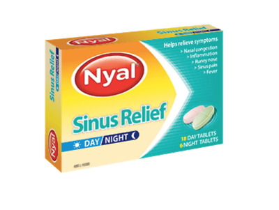 Nyal Sinus Relief Day/Night Tablets 18 Day 6 Night