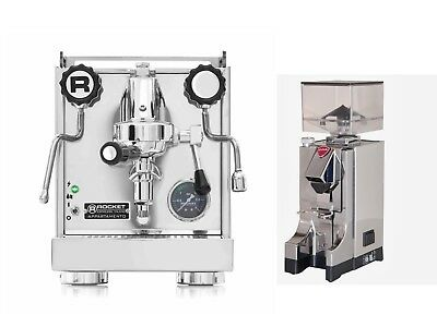 Rocket Appartamento Espresso Machine Coffee Maker & Eureka Mignon Grinder Set