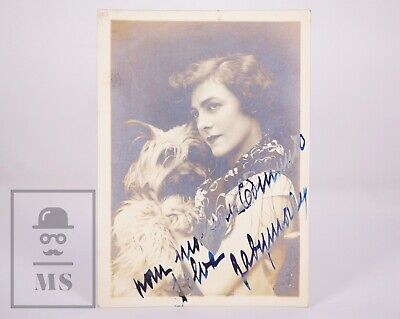 Original Actress Gaby Morlay Signed Photograph - Promotional Photo for Campari