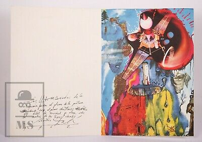 1962's Christmas Card by Salvador Dalí - Hoechst Iberica - Measurements 21x30 cm