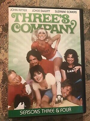 DVD Set Three's Company seasons three & four / 8 discs pre-owned