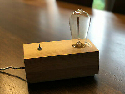 Edison table lamp in teak - used EXCELLENT condition
