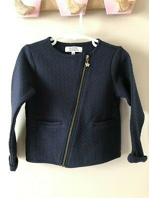 AS NEW Galeries Lafayette Girls Size 4 Navy Jacket