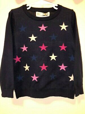BRAND NEW Girls Size 4 Navy Star Knitted Jumper
