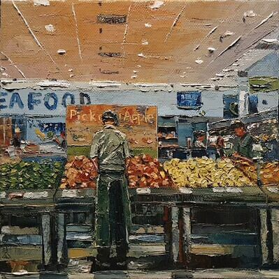 Pick Any Apple - Palette Knife | Brush - YouTube Original Oil Painting by Dusan