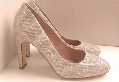 NEXT shoes size 7 gold silver mesh court sparkly smart party occasion high heel