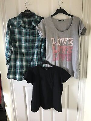 Mothercare Blooming Marvellous Maternity/Breast Feeding Tops x3 - 12 - RRP £38