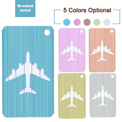 Aluminium Luggage Tags Suitcase Label Name Address ID Bag Baggage Tag Travel CA
