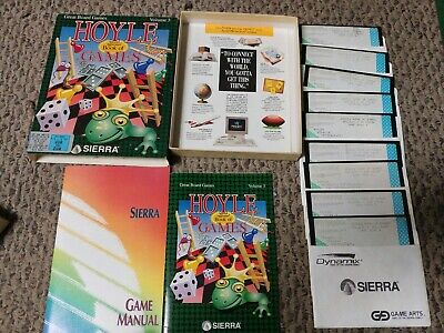 """Hoyle Official Book of Games Volume 3  By Sierra  Big Box PC VGA 3.5"""""""