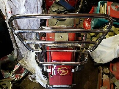 Vespa Px Rear Chrome Fold Down Carrier