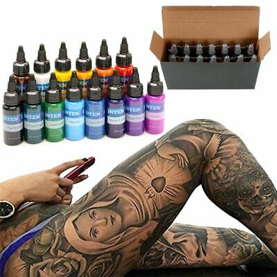14 Colors Tattoo Ink Set 30ml Bottle Ink Microblading Pigment Permanent Makeup